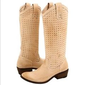 Frye Carson Leather Mid Calf Western Perf Boot